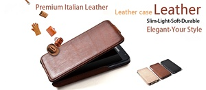 Premium Leather Flip Case and Two Screen Protectors for Samsung Galaxy Note, GT-i9220/N7000