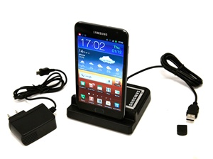 Sync Transfer USB Dual Dock Cradle Desktop Battery Charger for Samsung Galaxy Note, GT-i9220/N7000