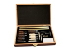 Rhyno 35-PC Deluxe Universal Gun Cleaning Kit-Wood