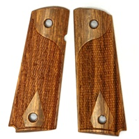 Rhyno Tactical Premium Wood Grips Fully Checkered for 1911, Full Size and Commander Size