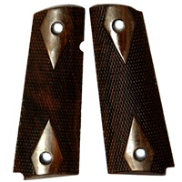 Rhyno Classic Premium Wood Grips Fully Checkered for 1911, Full Size and Commander Size