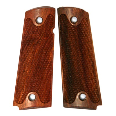 Rhyno Commando Premium Wood Grips Fully Checkered for 1911, Full Size and  Commander Size