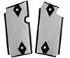 Rhyno Two Tone Fully Checkered, Black Double Diamond Pattern Aluminum Grips for Sig Sauer P238