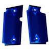 Rhyno Blue Checkered Aluminum Grips for Sig P238