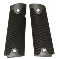 Rhyno Black Commando Fully Checkered Premium Aluminum Grips for 1911, Full Size